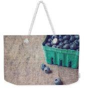 Summer Blueberries Weekender Tote Bag