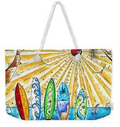 Summer Break By Madart Weekender Tote Bag by Megan Duncanson