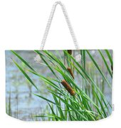 Summer Cattails In The Breeze Weekender Tote Bag