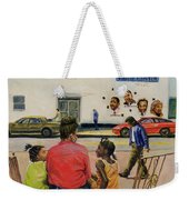 Summer City Stoop Weekender Tote Bag by Colin Bootman