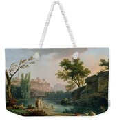 Summer Evening Landscape In Italy Weekender Tote Bag