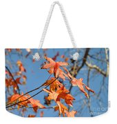 Summer Gold Leaf Weekender Tote Bag