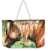 Horse Painting In Watercolor Summer Horse Weekender Tote Bag