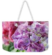 Summer Hydrangeas With Painted Effect Weekender Tote Bag