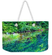 Summer Monet Reflections Weekender Tote Bag
