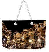 Summer Night In Albarracin Spain Weekender Tote Bag