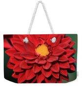 Fiery Red Dahlia Weekender Tote Bag