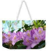 Summer Rhodies Flowers Purple Floral Art Prints Weekender Tote Bag