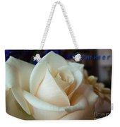 Summer Rose Sapphire Border Weekender Tote Bag