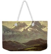 Summer Snow On The Peaks Or Snow Capped Mountains Weekender Tote Bag