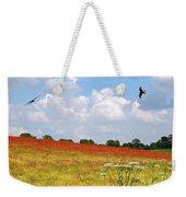 Summer Spectacular - Red Kites Over Poppy Fields Weekender Tote Bag