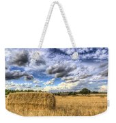 Summer Straw Bales Weekender Tote Bag