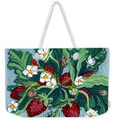 Summer Strawberries Weekender Tote Bag