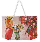 Summer Stroll By A Cafe Weekender Tote Bag