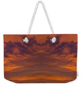 Summer Sunrise Over Jackson Michigan Mirror Image Weekender Tote Bag