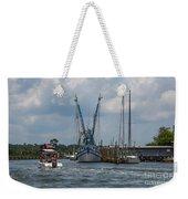 Summer Time Boating Weekender Tote Bag
