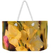 Summer Yellow Gladiolus Weekender Tote Bag