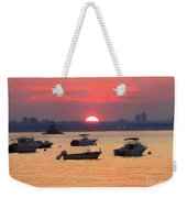 Late Summer Sunset Over The Bay Weekender Tote Bag