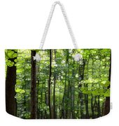 Summer's Green Forest Abstract Weekender Tote Bag
