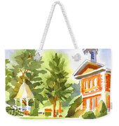 Summers Morning On The Courthouse Square Weekender Tote Bag