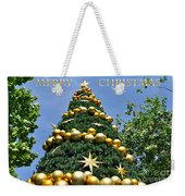 Summertime Christmas With Text Weekender Tote Bag by Kaye Menner