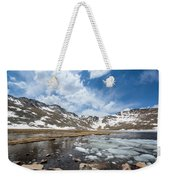 Summit Lake In The Spring Weekender Tote Bag