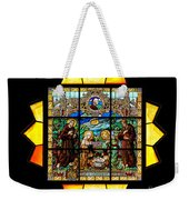 Sun Burst Stained Glass Weekender Tote Bag