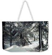 Sun Dappled Snow Weekender Tote Bag