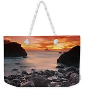 Sun Descends On Northcoast Weekender Tote Bag