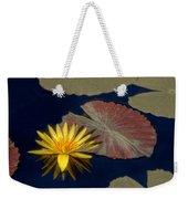 Sun-kissed Water Lily Weekender Tote Bag