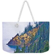 Sun Notch On A Rainy Day At Crater Lake National Park-oregon Weekender Tote Bag