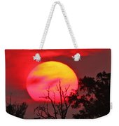 Louisiana Sunset On Fire Weekender Tote Bag