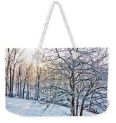 Sun Over A Snowy Day Weekender Tote Bag