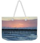 Sun Over Crowed Pier Weekender Tote Bag