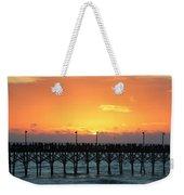 Sun In Clouds Over Pier Weekender Tote Bag