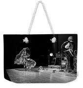 Sun Ra Dancer And Marshall Allen Weekender Tote Bag by Lee  Santa
