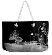 Sun Ra Dancer And Marshall Allen Weekender Tote Bag by Lee  Santa
