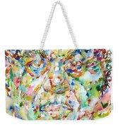 Sun Ra Watercolor Portrait Weekender Tote Bag