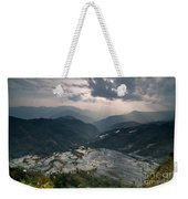 Sun Ray Over Rice Terrace Filed Weekender Tote Bag