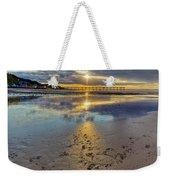 Sun Ray Sunset Saltburn Weekender Tote Bag