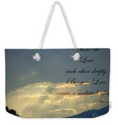 Sun Rays 1 Peter Chapter 4 Verse 8 Weekender Tote Bag