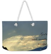 Sun Rays Ecclesiastes Chapter 3 Verse 11 Weekender Tote Bag