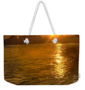 Sun Rays On The Payette River Weekender Tote Bag
