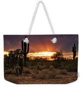 Sun Rays Over The Sonoran Desert  Weekender Tote Bag