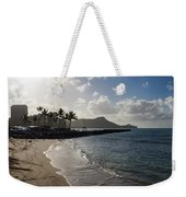 Sun Sand And Waves - Waikiki Honolulu Hawaii Weekender Tote Bag