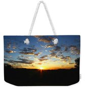 Sun Setting Behind The Mountains Weekender Tote Bag