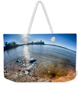 Sun Shining Over Lake Wylie In North Carolina Weekender Tote Bag