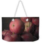 Sun Warmed Apples Still Life Square Weekender Tote Bag