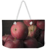 Sun Warmed Apples Still Life Square Weekender Tote Bag