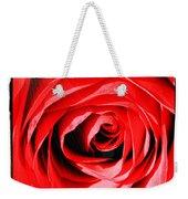 Sunburst On Red Rose With Framing Weekender Tote Bag